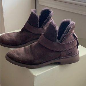 Ugg fur lined booties